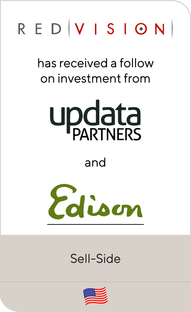 RedVision secured a follow-on investment led by Updata Partners and Edison Ventures