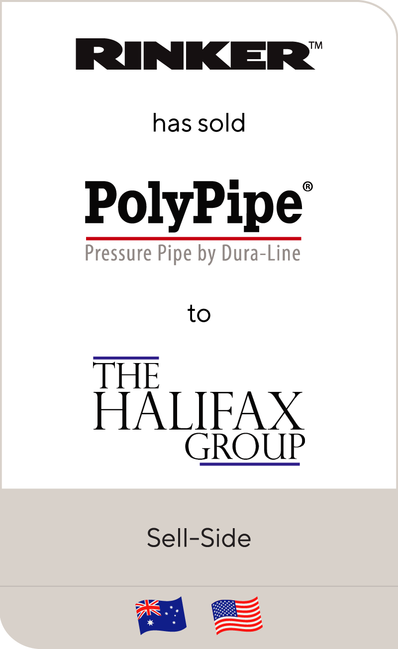 Rinker has sold PolyPipe to Halifax