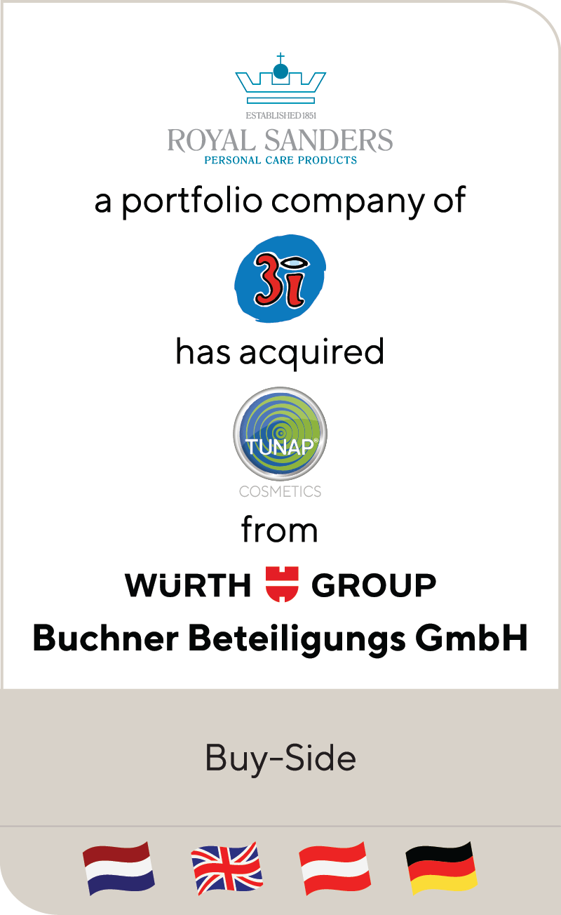 Royal Sanders 3i Tunap Cosmetics Wurth Group Buchner Beteiligung 2021