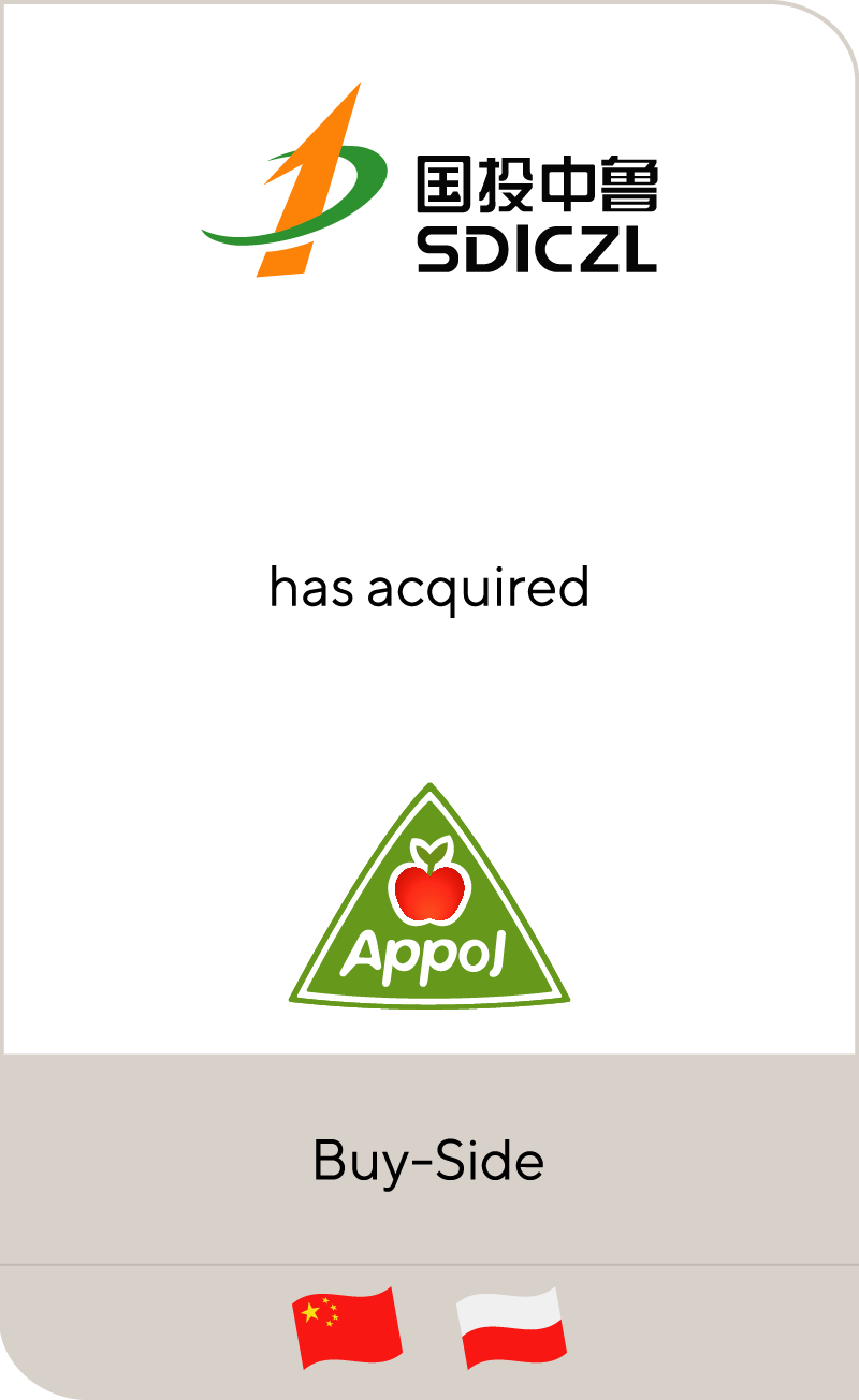 SDIC Zhonglu Fruit Juice Co., Ltd has acquired Appol Group