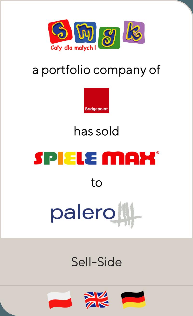 SMYK, a portfolio company of Bridgepoint, has sold Spiele Max to Palero