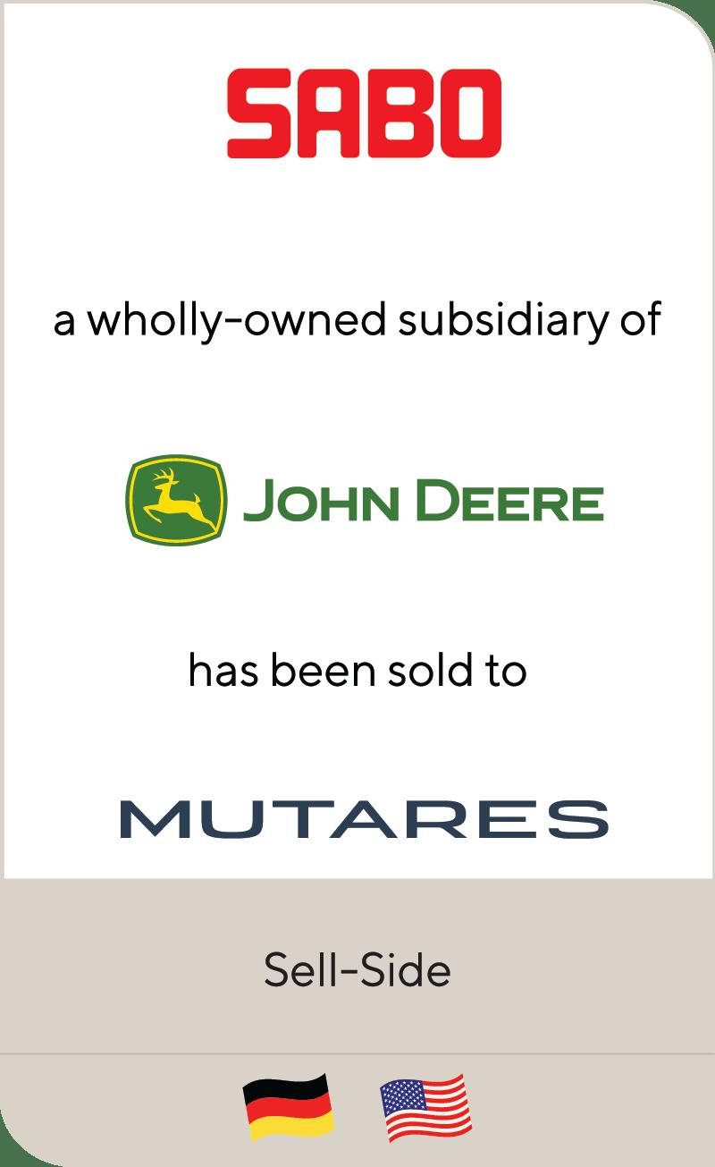 Sabo John Deere Mutares 2020