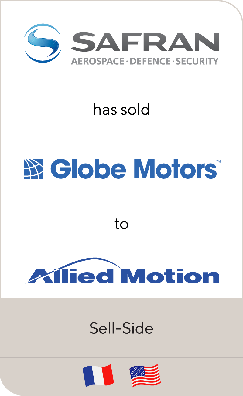 Safran has sold Globe Motors to Allied Motion Technologies
