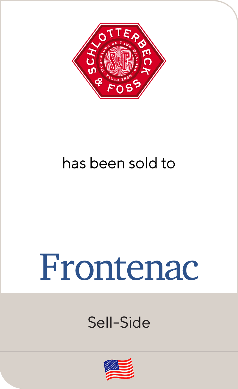 Schlotterbeck & Foss has been sold to Frontenac Company