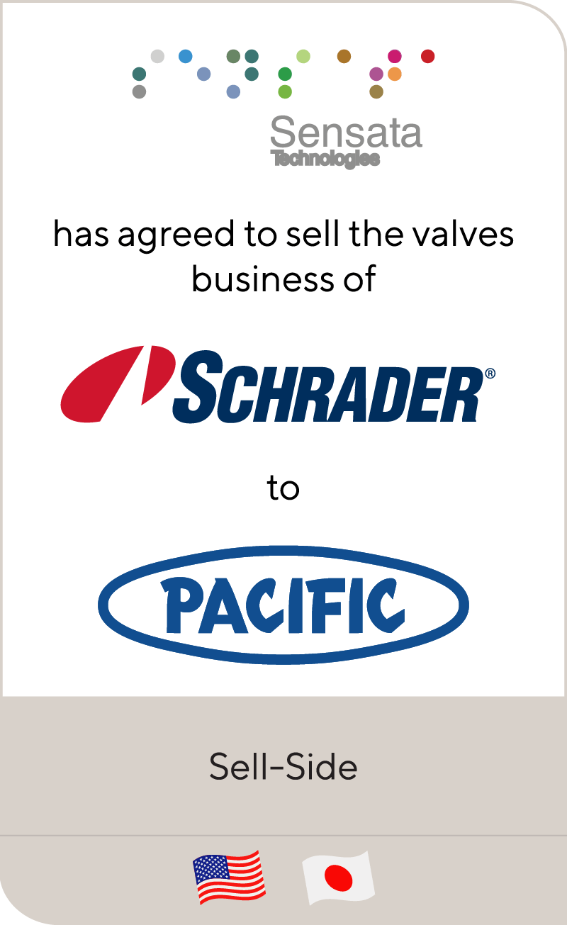 Sensata Technologies has completed the sale of its valves business to Pacific Industrial Co.