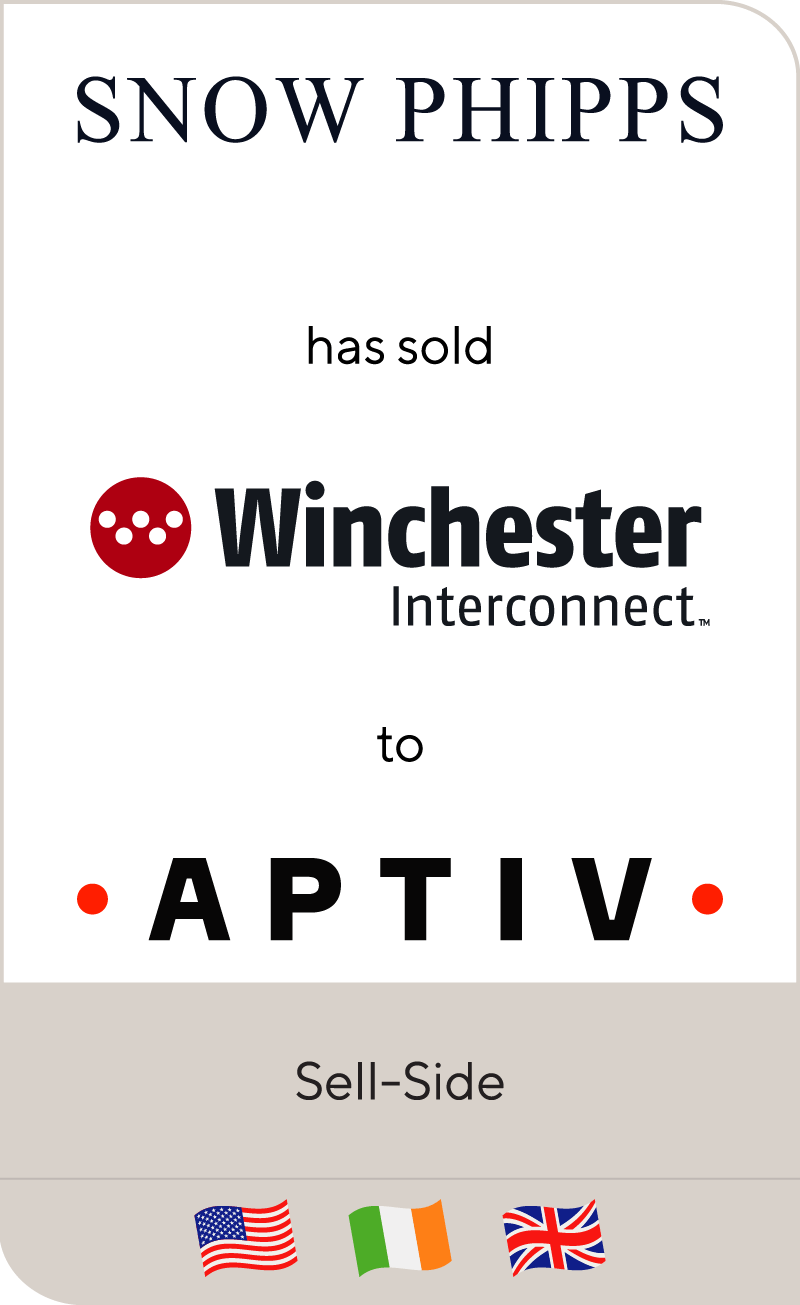 Snow Phipps Group has sold Winchester Interconnect to Aptiv