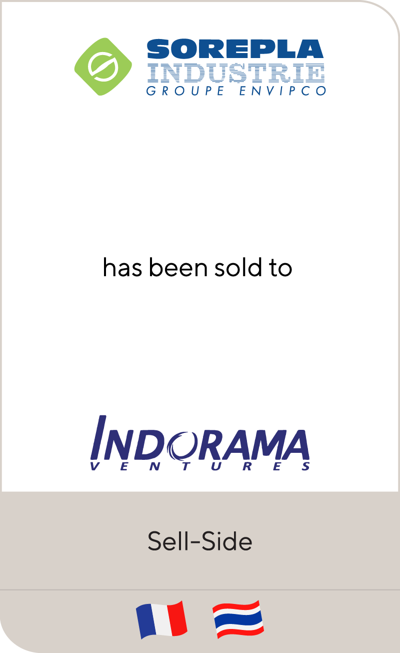 Sorepla Industrie has been sold to Indorama Ventures