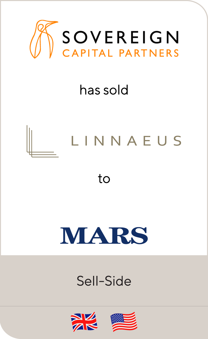 Sovereign Capital has sold Linnaeus Group to Mars