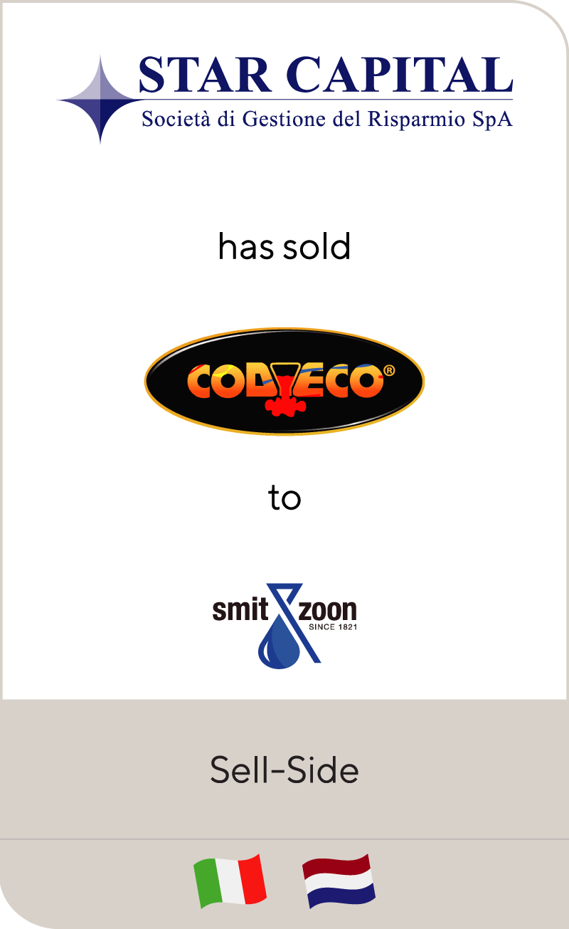 Star Capital has sold Codyeco to Smit & zoon