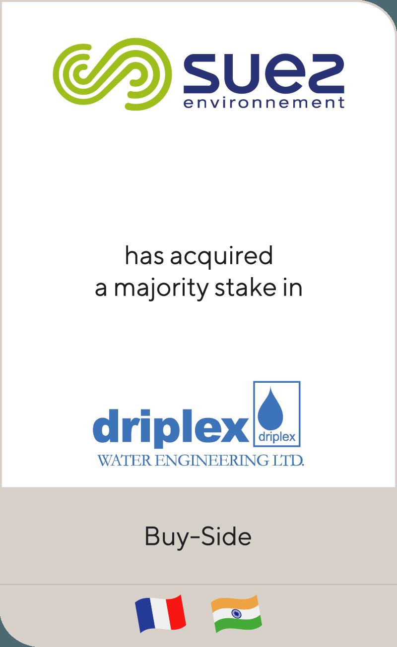 SUEZ has acquired Driplex Water Engineering