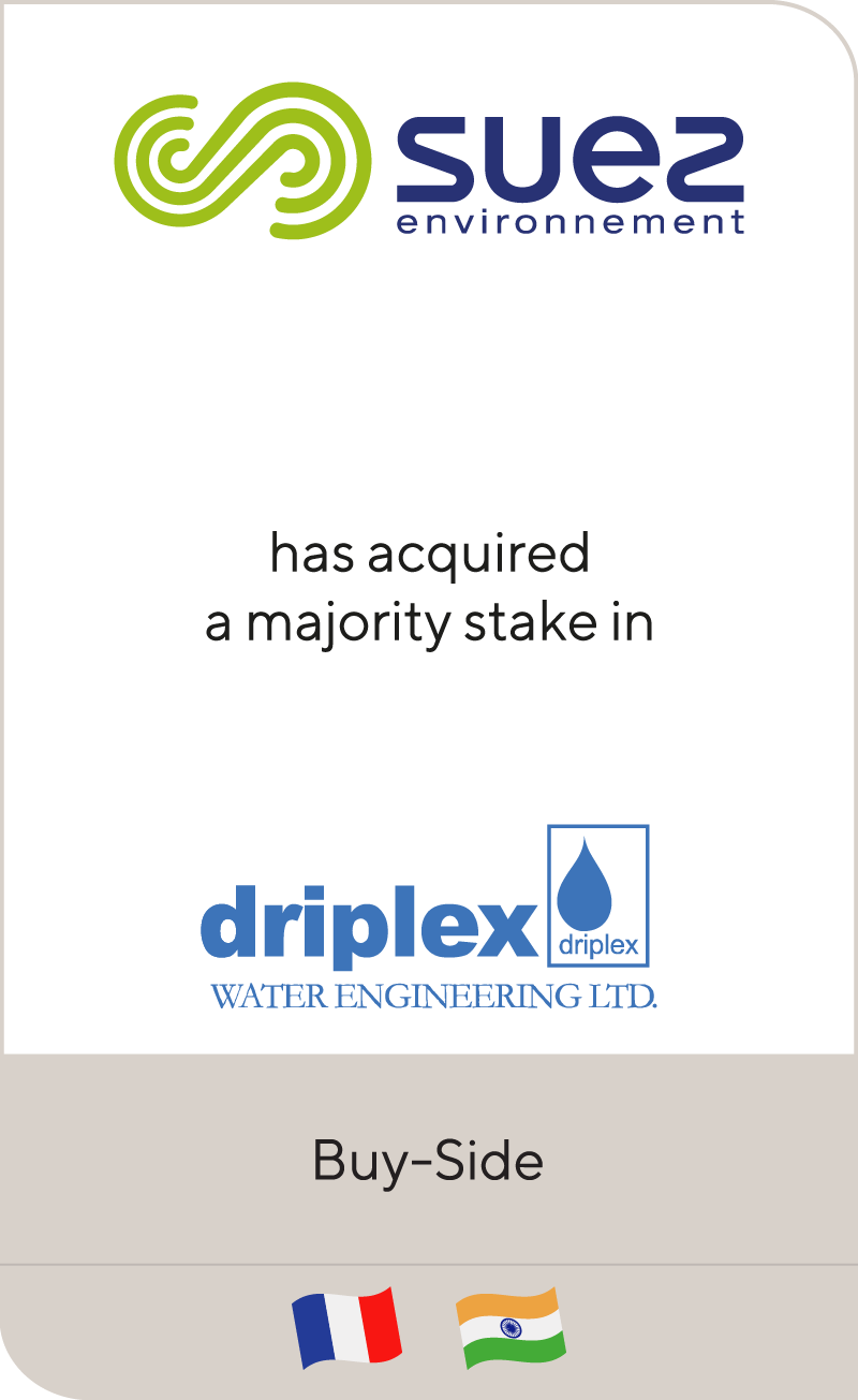 SUEZ has acquired Driplex Water Engineering