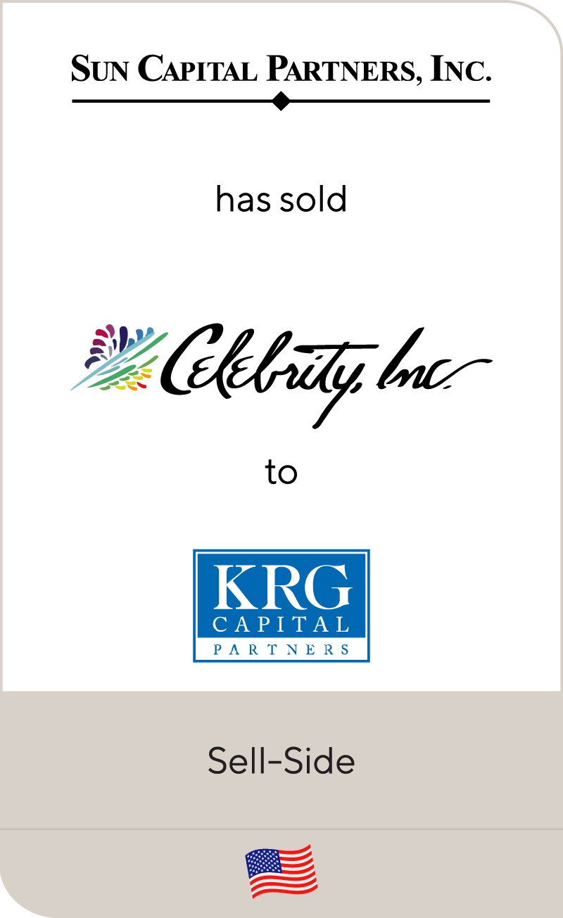 Sun Capital Partners has sold Celebrity to KRG Capital