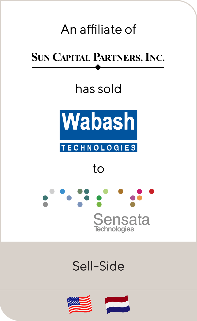 Sun Capital has sold Wabash Technologies to Sensata Technologies