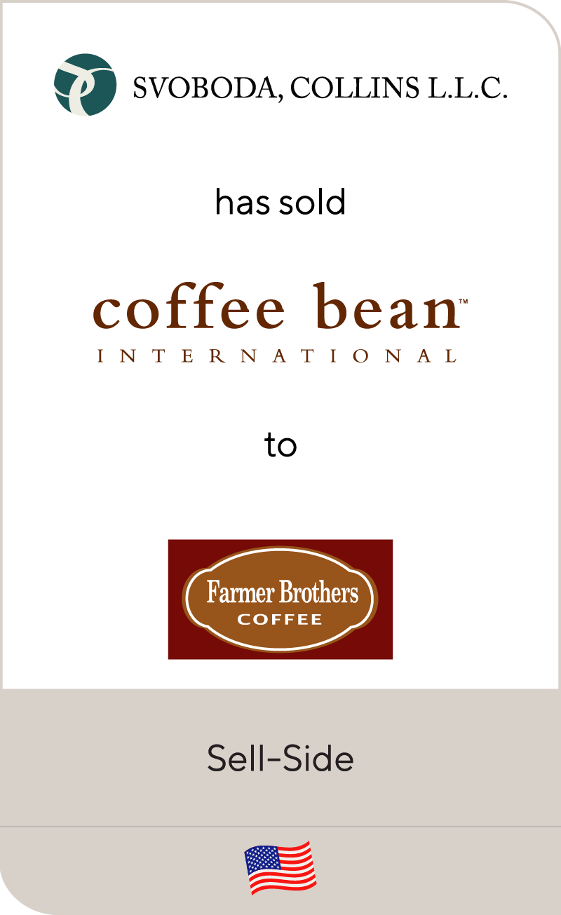 Svoboda, Collins has sold Coffee Bean International to Farmer Brothers Coffee