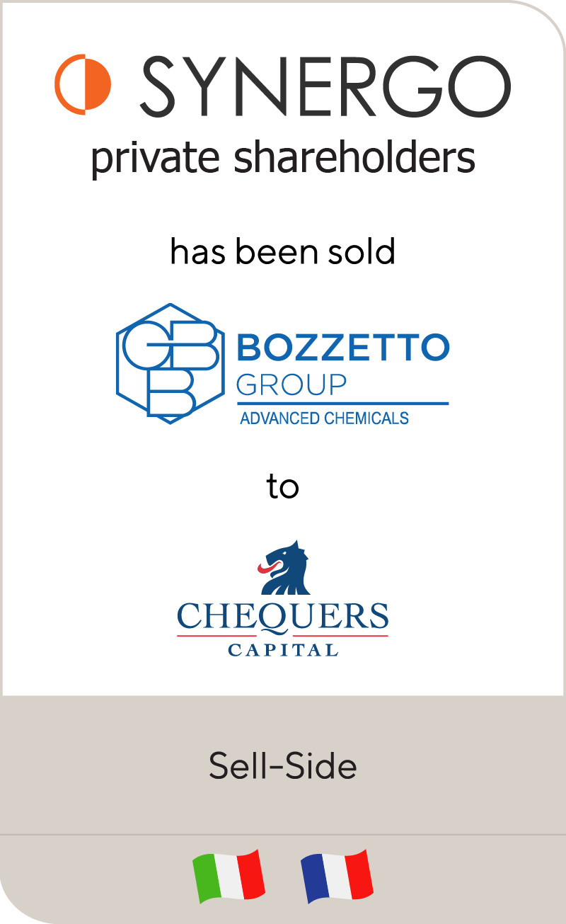 Synergo has sold Bozzetto Group to Chequers Capital