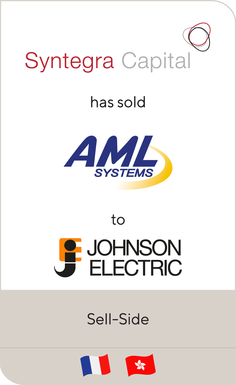 Syntégra Capital Investors has sold AML Développement to Johnson Electric Holdings Limited