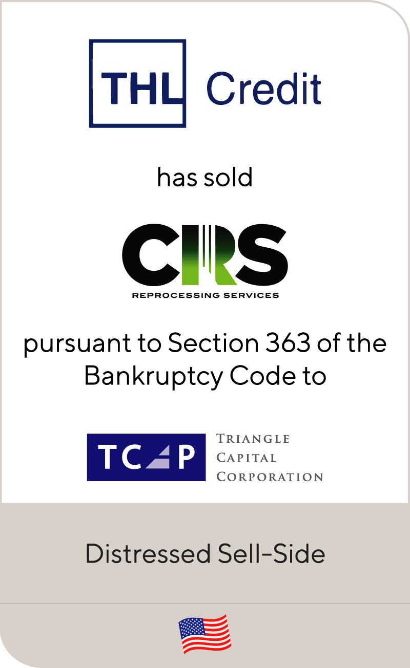 THLCredit has sold CRS to TCP