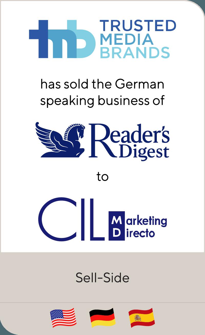 Reader's Digest German Region has been sold to Spanish CIL Inversiones