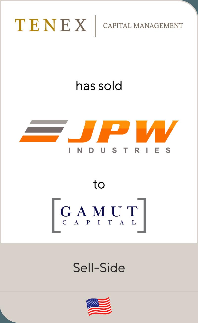 Tenex Capital Management has sold JPW Industries to Gamut Capital Management