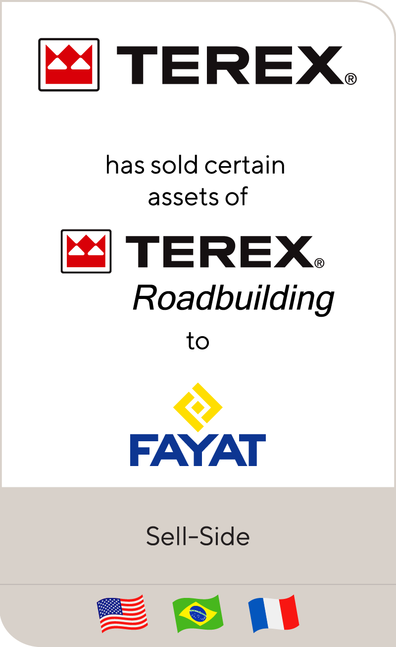 Terex Corporation has sold assets of Terex Roadbuilding Division to Fayat Group