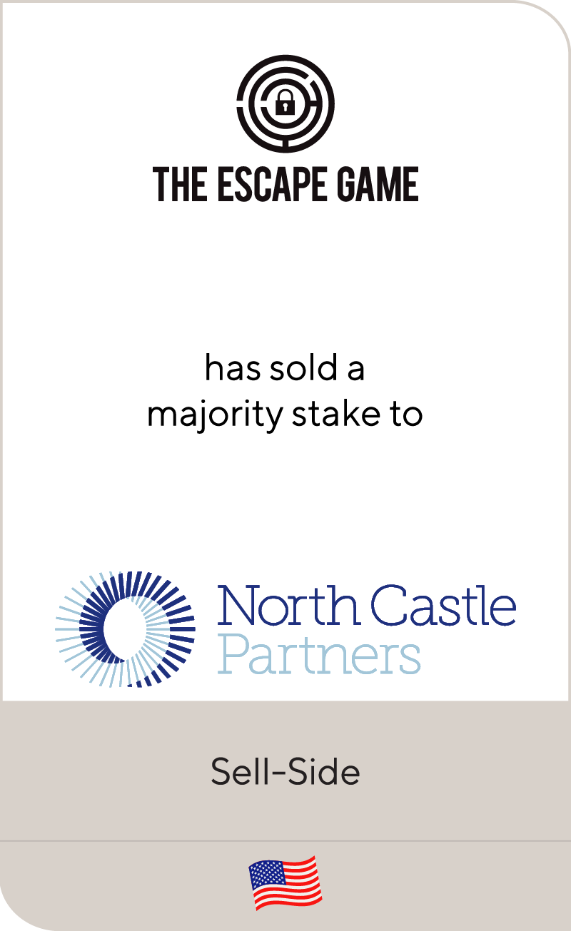 The Escape Game has sold a majority stake to North Castle Partners