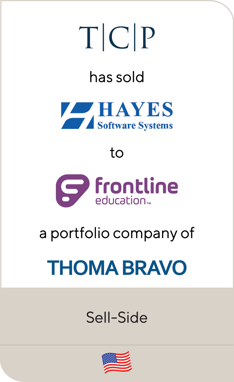Transition Capital Partners Hayes Software Systems Frontline Education Thoma Bravo 2021