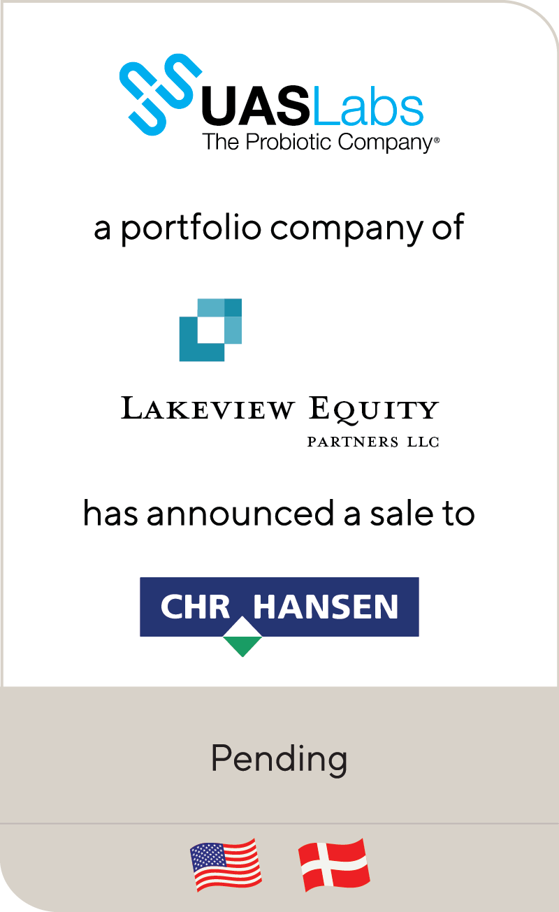 UAS Labs Lakeview Equity Partners CHR Hansen 2020 Pending