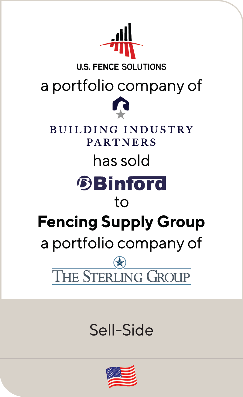 US Fence Solutions Building Industry Partners Binford Supply Fencing Supply Group The Sterling Group 2021