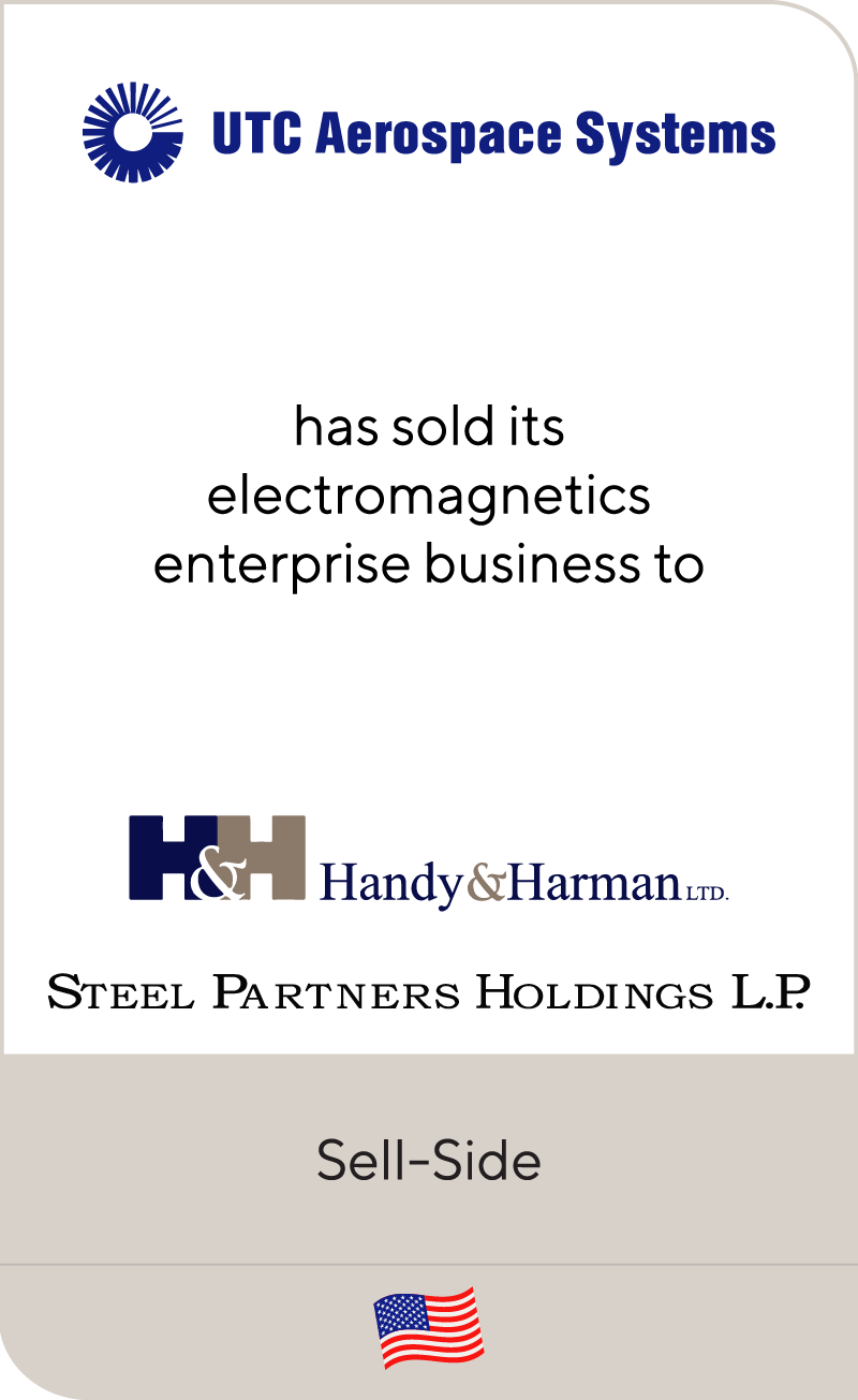 UTC Aerospace Handy&Harman Steel Partners Holdings 2016