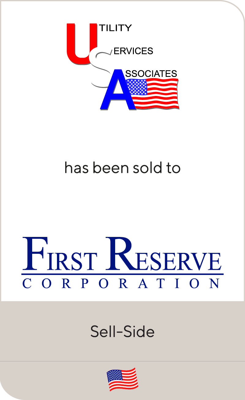 Utility Services Associates has been sold to First Reserve
