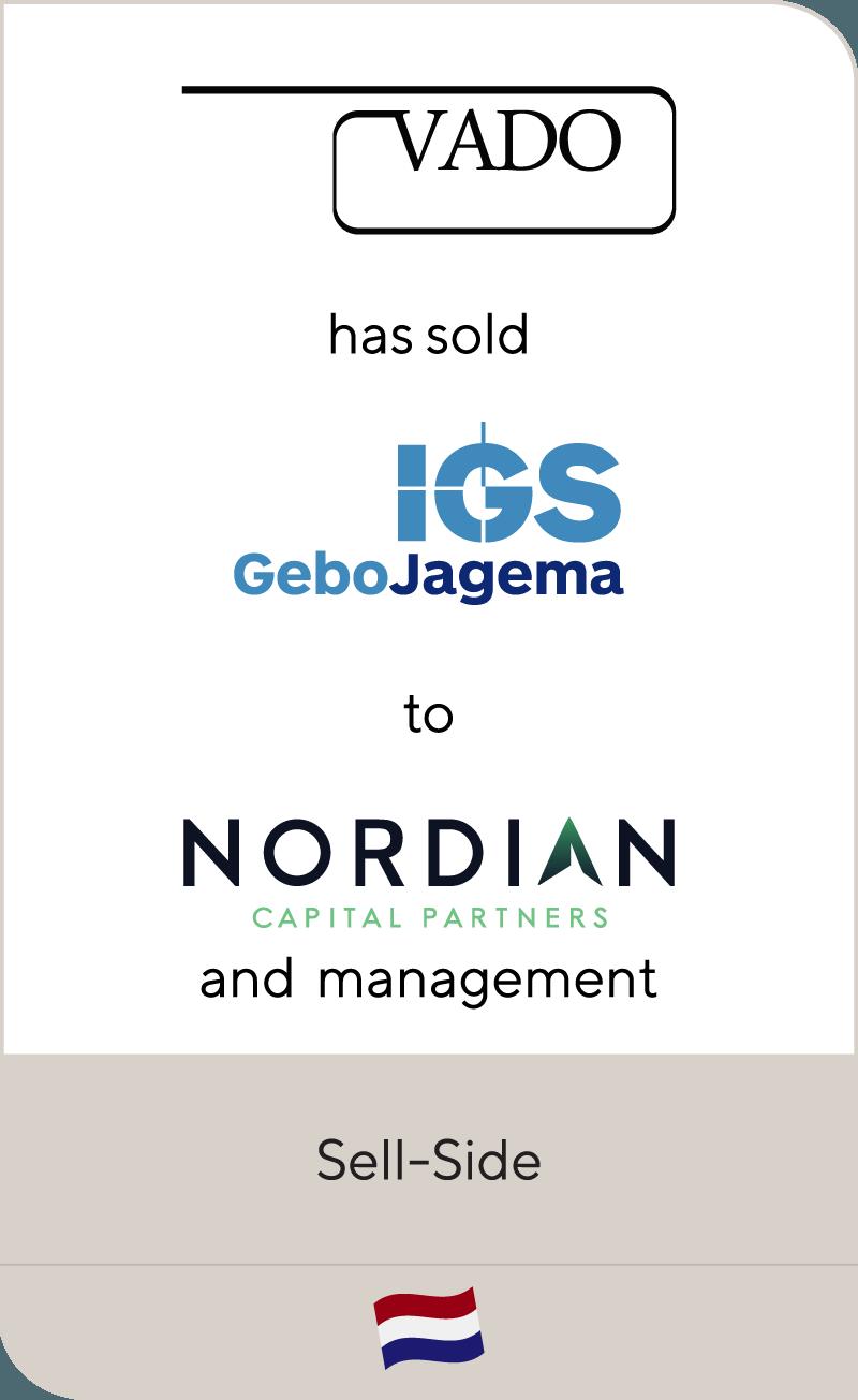 VADO Beheer has sold IGS GeboJagema to Nordian Capital Partners