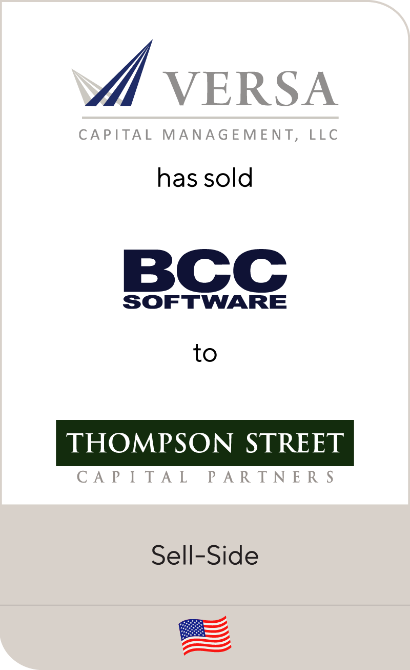 Versa Capital Management has sold BCC Software to Thompson Street Capital Partners