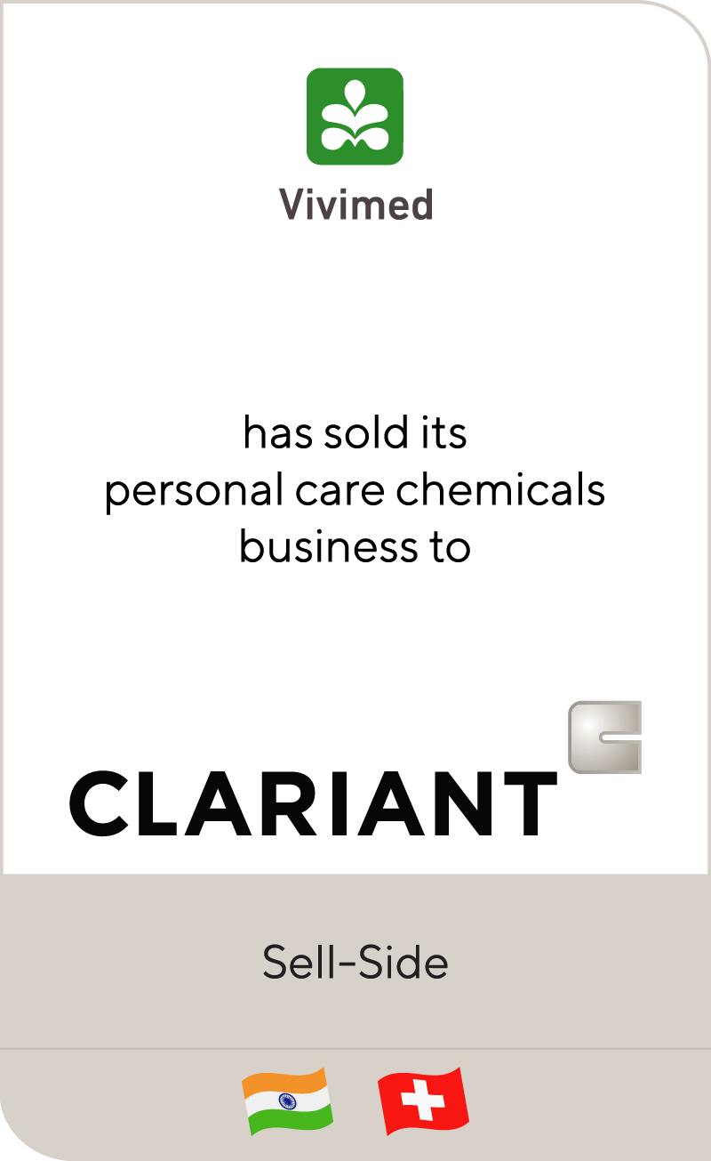 Vivimed has sold its personal care chemicals business to Clariant