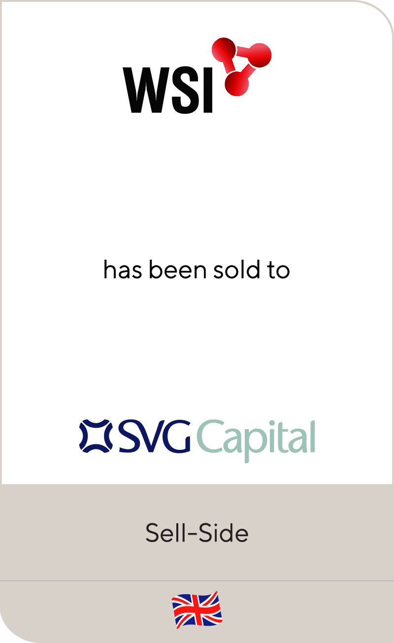 WSI has been sold to SVG Capital