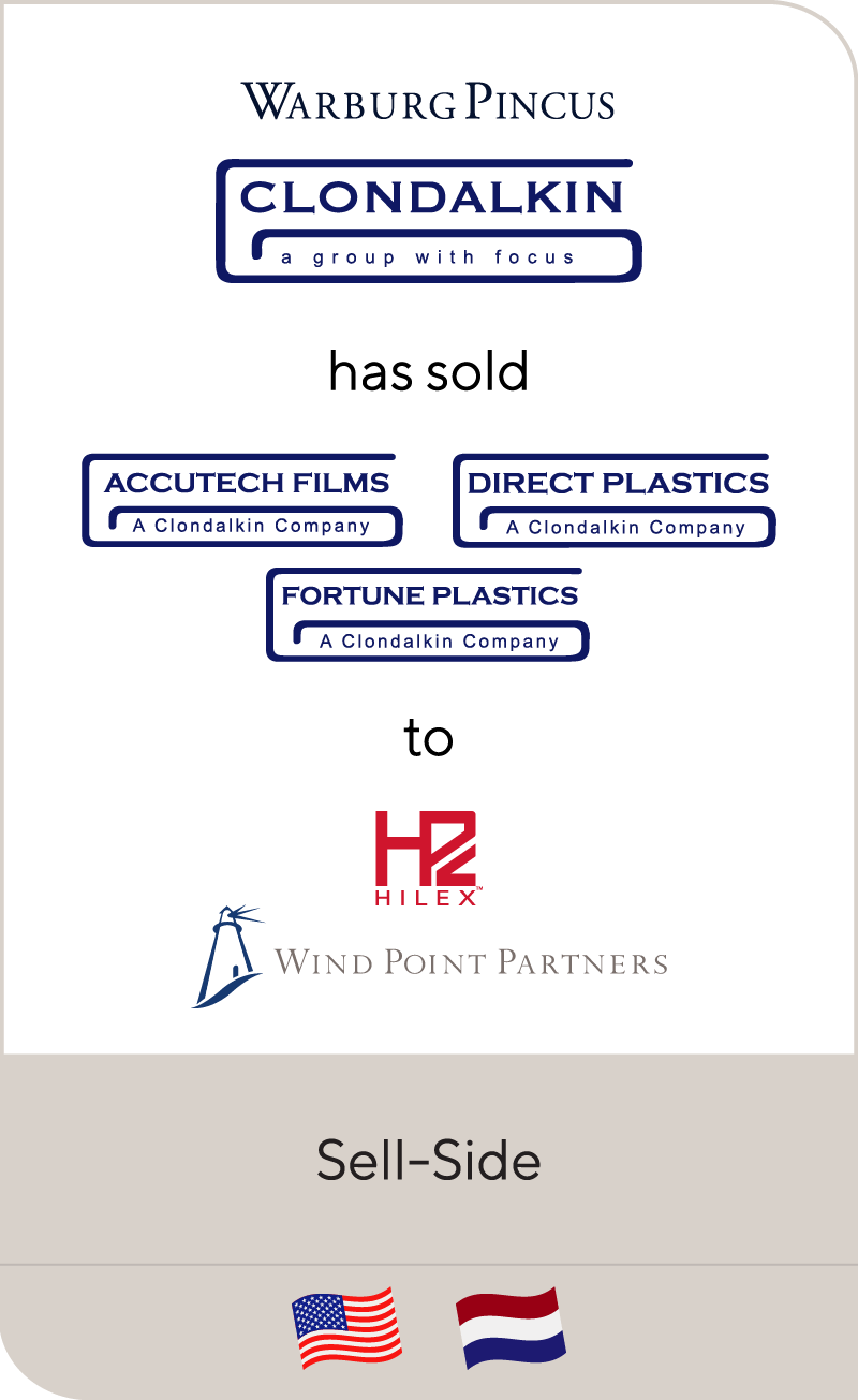 Warburg Pincus' Clondalkin Group has sold its North American Flexible Packaging Businesses to Wind Point Partners' Hilex Poly
