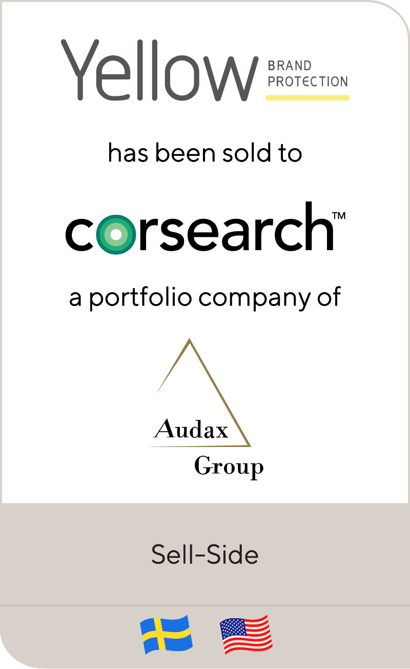 Yellow Brand Protection Group AB has been sold to Corsearch, Inc.