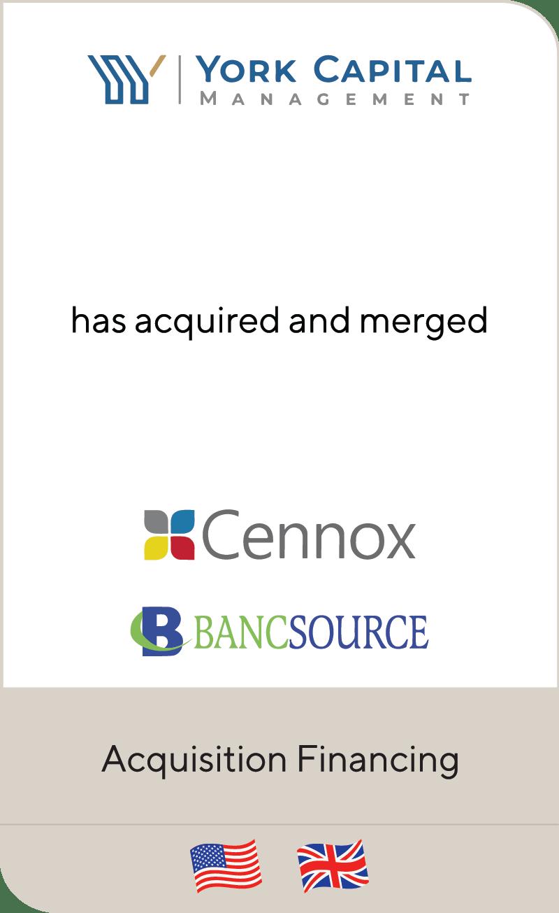York Capital Management Cennox Bancsource 2021