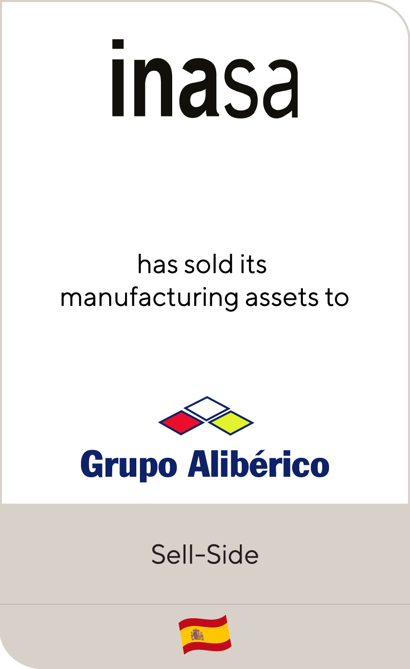 Inasa has sold its manufacturing assets to Grupo Alibérico