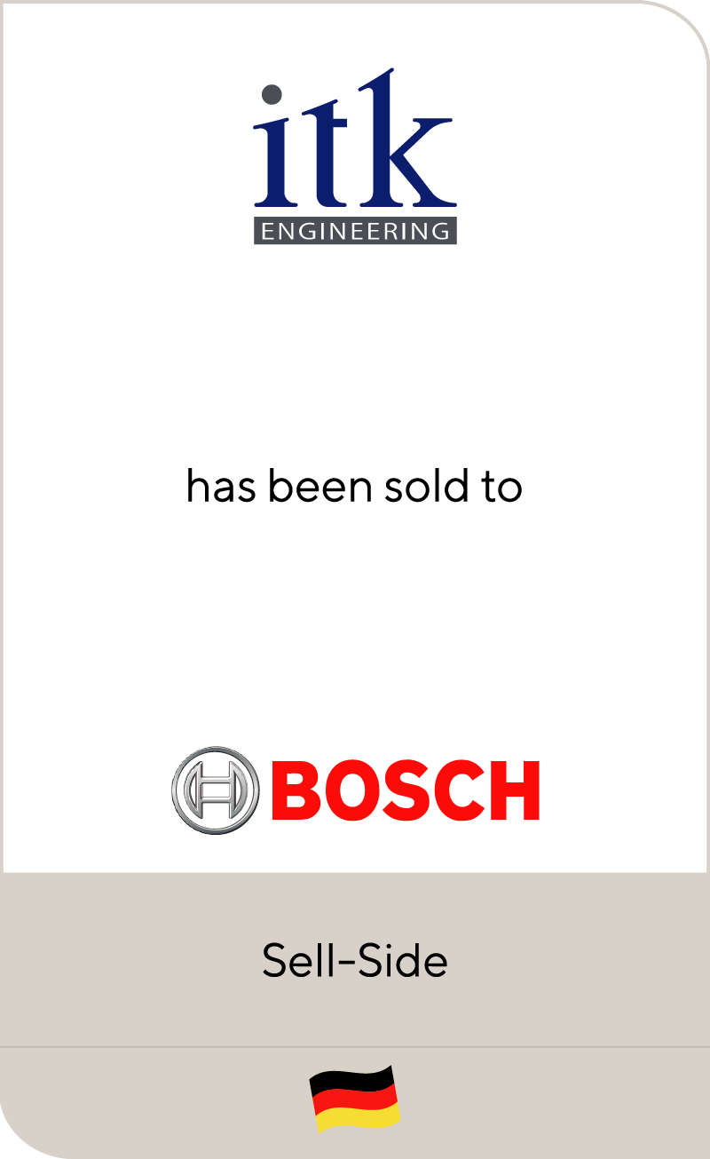 ITK Engineering has been sold to Bosch Engineering