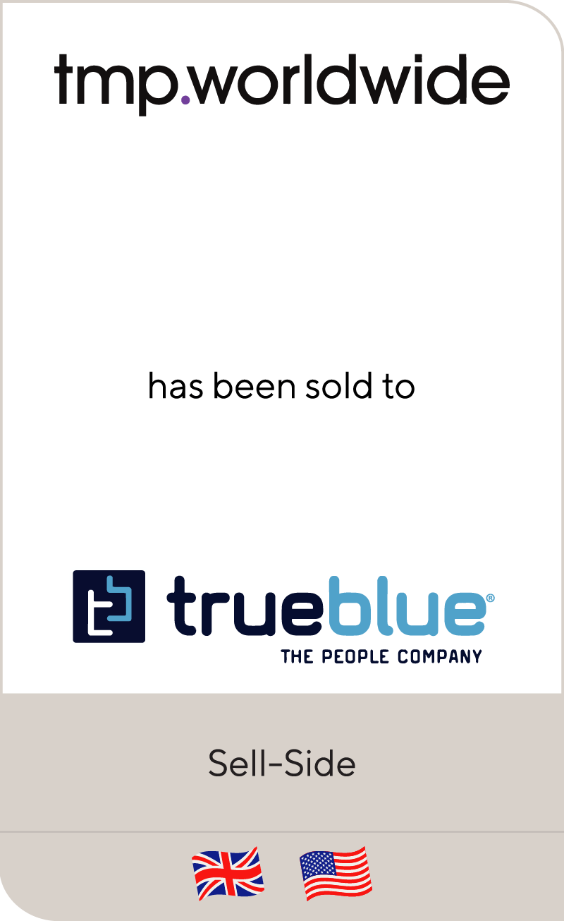 TMP Worldwide has been sold to TrueBlue